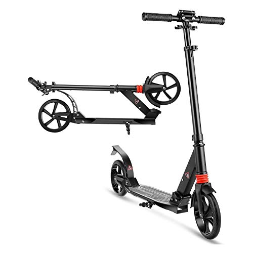 Scooter para adultos, jóvenes, niños   Scooter de patada con manillar ajustable en altura de ruedas de gran tamaño de 200 mm   Soporte duradero para scooter de 220 libras adecuado para niños de 6 añ