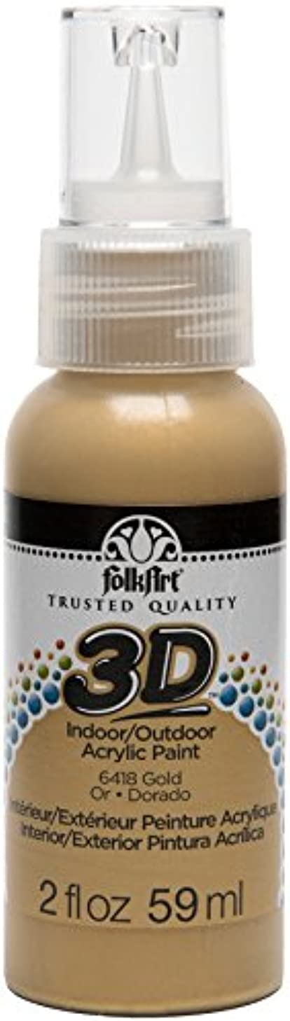 FolkArt 3D Acrylic Paint in Assorted Colors (2 oz), 6418 Gold