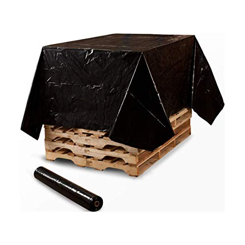 Palettenfolie schwarz Wickelfolie PE-Handstretchfolie Cast-Film schwarz Strech-Folie Packfolie Verpackungsfolie Umzugsfolie Plastikfolie Stretch Film 50cm x 300meter x 20my