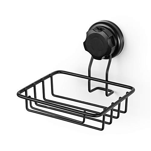 Compactor Bestlock Black |Soporte para Esponja y Jabón | 13x13,2x10 cm, Cromado, 13,2 x 13,2 x 10 cm