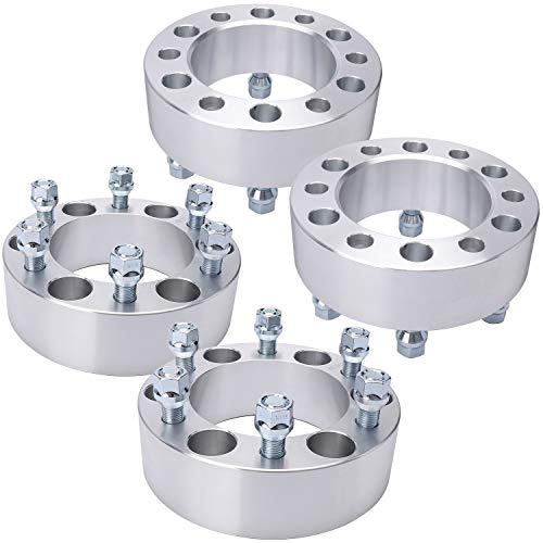 IRONTEK 2 inch 6 Lug Wheel Spacers 6x5.5 to 6x5.5 6x139.7mm to 6x139.7mm 14x1.5 Studs Wheel Spacer Adapters Fits for Cadillac, Chevrolet Tahoe, Silverado 1500, Express 1500