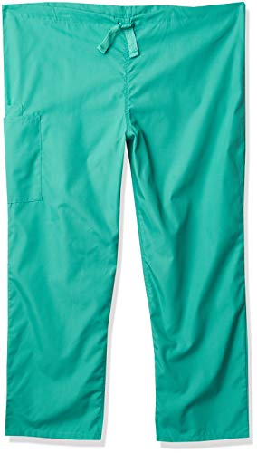 Cherokee Workwear Scrubs - Pantalón cargo unisex, Verde quirúrgico, X-Small/Short