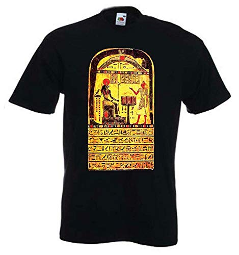 CVBNM Aleister Crowley Stele of Revealing T-Shirt - Pagan Occult Thelema Magick Satan Black