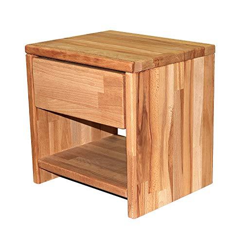 Betten-ABC Bubema Nachttisch, Buche Massivholz, montiert, Schublade Farbe Natur geölt