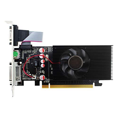 GT210 grafische kaart processor kloksnelheid: 266MHz ~ 459 MHz- (DVI-I/HDMI/VGA, 1GB, GDDR2, 64Bit PCI-Express 2.0)