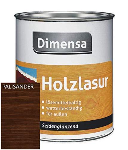 DIMENSA Holzlasur | Wetterschutzlasur | Holzschutzlasur | Premium Qualität | Außen | Aromatenfrei | 0,75l - Palisander