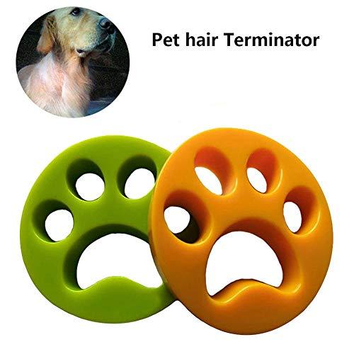 WANGXL Huisdier Haarverwijderaar voor Wasmachine 2 Stuk Herbruikbare Huisdieren Haar Catcher voor Wasserij Haar Verwijdering Ballen voor Kleding Beddengoed (Groen+Geel)