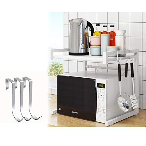 Vinteky - Estante de microondas Extensible para Horno de Soporte, estantería para Horno de microondas, Cocina de la Rejilla del Horno Que Ahorra Espacio