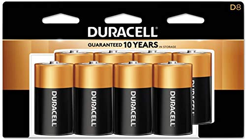 Duracell - CopperTop D Alkaline Batteries with recloseable Package - Long Lasting, All-Purpose D Battery for Household and Business - 24 Count