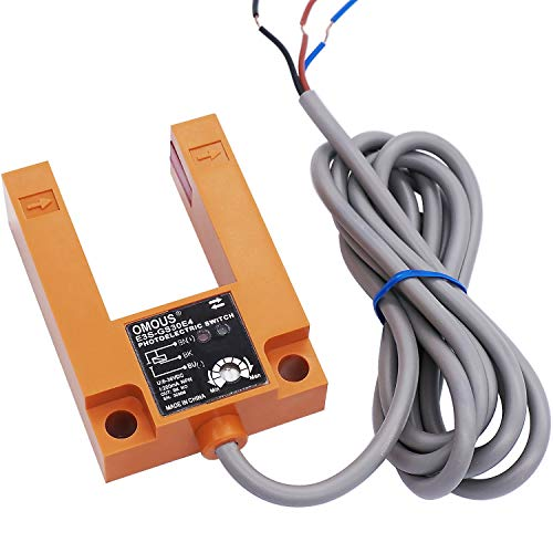 Twidec/30MM Induction Adjustable Indoor Wall Mounted Photoelectric Beam Sensor Slot Type 3wire NPN NO photoelectric Sensor Switch 2m line Cable E3S-GS30E4