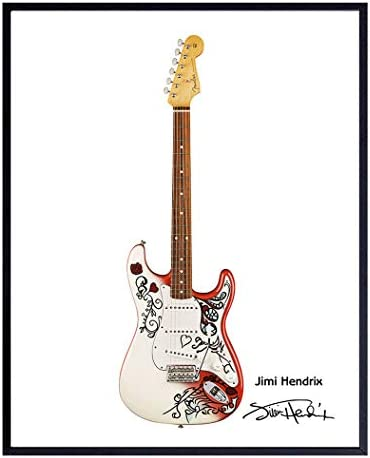 Jimmy Hendrix Guitar Art Print Wall Art Poster Unique Home Decor and Great Inexpensive Gift product image