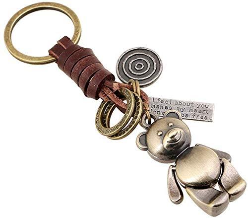Stijlvolle Eenvoud Sleutelhanger Mooie Dieren Beer Sleutelhanger Handtassen Hanger Sleutelhanger Vrouwen Mannen Sleutelhangers Ringen Houder Sieraden Auto Tassen Sleutelhanger, N-J 1