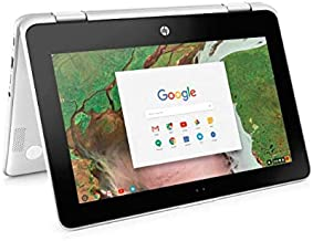 Newest HP 2-in-1 Business Chromebook 11.6in HD IPS Touchscreen, Intel Celeron N3350 Processor, 4GB Ram 32GB SSD, Intel HD Graphics, WiFi, Webcam, Google Chrome OS-White (Renewed)