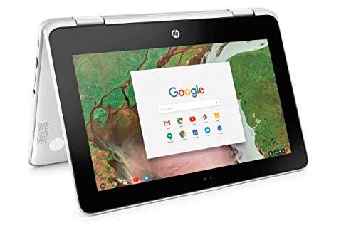 HP 2-in-1 Business Chromebook 11.6in HD IPS Touchscreen, Intel Celeron N3350 Processor, 4GB Ram 32GB SSD, Intel HD Graphics, WiFi, Webcam, Google Chrome OS-White (Renewed)
