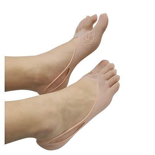 1 Pares de Calcetines Ortopédicos de Compresión para Mujer, Calcetines de Transpirable La Malla de Yoga del de Ahueca hacia Fuera los Calcetines Sólidos de Cinco Dedos de la Boca Liger