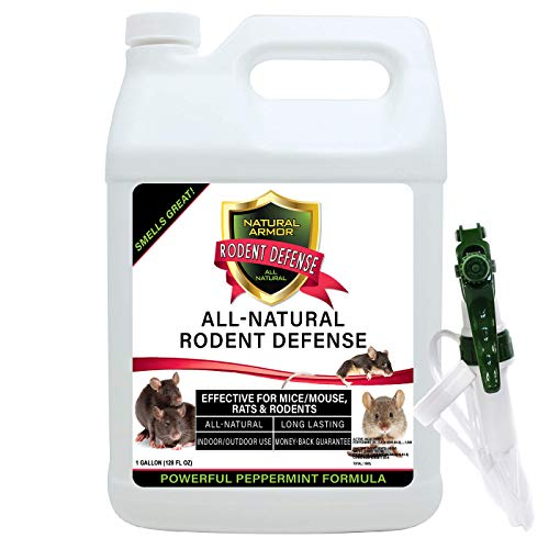 Natural Armor Peppermint Repellent for Mice/Mouse, Rats & Rodents. Natural Spray for Indoor & Outdoor Use Rodent Defense. 128 OZ Gallon