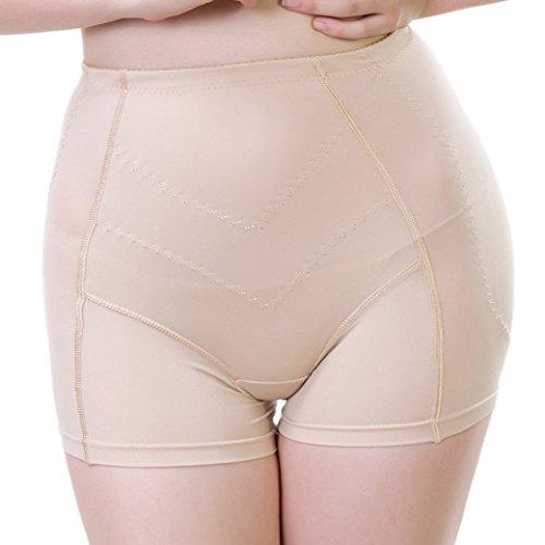 Aivtalk Mujer Bragas Braguitas Moldeadoras Relleno Embellecer Cadera Lateral Calzones Lucir Palmito Hip Up Shaper - Carne Talla XL