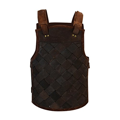 Armor Venue - RFB Viking Leather Armor - Adjustable Body Armour for Men and Women Brown X-Large