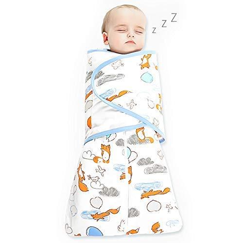Phiraggit Baby Schlafsack, Niedlicher Tier Cartoon Schlafsack, ganzjährig ärmelloser Schlafsack für Neugeborene 0-6 Monate (2.5 tog)