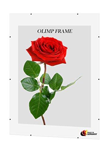 Olimp Cornice a Giorno con Vetro Antiriflesso 77 cm x 100 cm in Horizontal or Vertical Format
