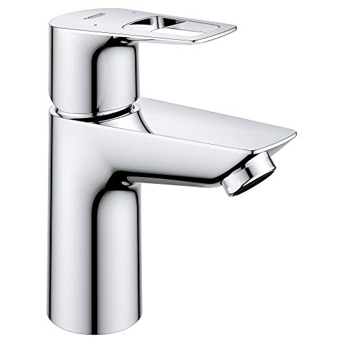 GROHE 23085001 Bauloop Hole Single-Handle S-Size Bathroom Faucet 1.2 GPM, Starlight Chrome