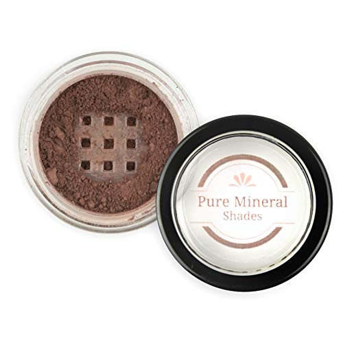 Mineral Eyebrow Powder by NuBeauti - Natural Brow Makeup Kit with Angled Contour Brush for Precision Sculpting to Color Eyebrows Precisely for Beautiful Perfect Brows (With Brush, Dark Auburn)