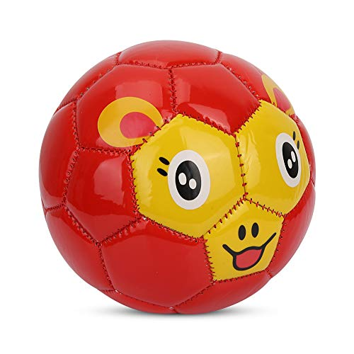 Guoenir Balón de fútbol para niños, de PVC, tamaño 2, resistente y de alta calidad, ideal como regalo de entretenimiento para niños