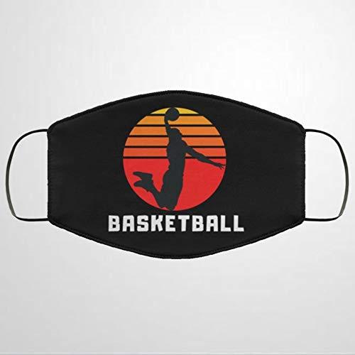 BYRON HOYLE Basketball-Mundschutz, personalisierbar, aus Baumwollstoff, Unisex, Anti-Staub, wiederverwendbar, bequem, atmungsaktiv, für den Außenbereich, mit Ohrschlaufe, Nase