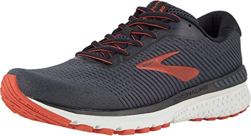 Brooks Mens Adrenaline GTS 20 Running Shoe - Black/Ebony/Ketchup - D - 11.0