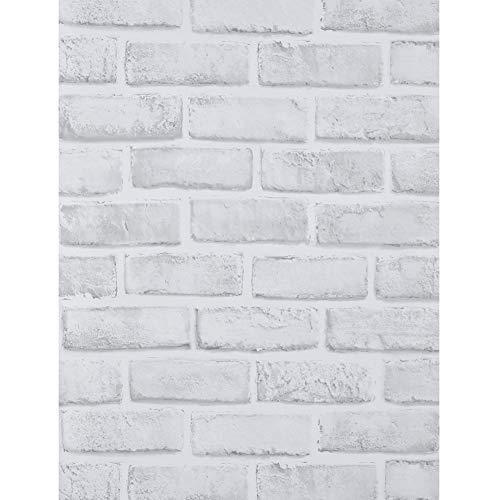 Alvinlite Pegatinas de Pared para el hogar, Papel Tapiz con diseño de ladrillo Blanco único extraíble para Sala de Estar, Dormitorio, Comedor, Pegatinas de Pared Adhesivas
