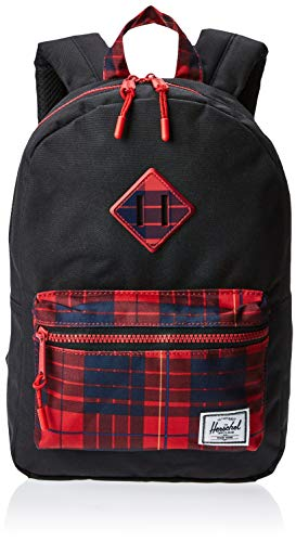 Herschel Unisex-Kinder Heritage Kids Children's Backpack, Schwarz/Winterkaro, 9L