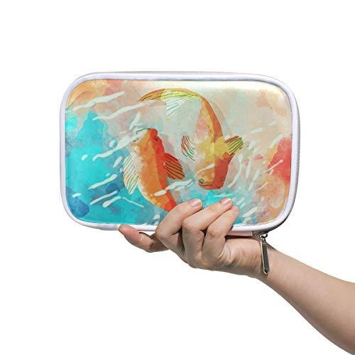 LORONA Aquarel Japanse Vissen In Het Potlood Case Cosmetische Tas Grote Capaciteit Organizer Make-up Koppeling Tas voor Travel School