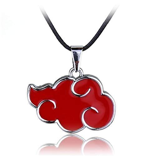 Lankater Forma De Nube Roja 1pc Colgante, Collar con Estilo Anime Naruto Collares para Niños para Niños Regalos De Los Hombres