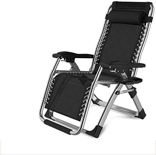 TUHFG Silla Tumbona Comfort Ocio Deck Sillas Plegable, Ajustable Cero-Recliner, Playa Home Garden Balcon Multifunción Tumbona, 3