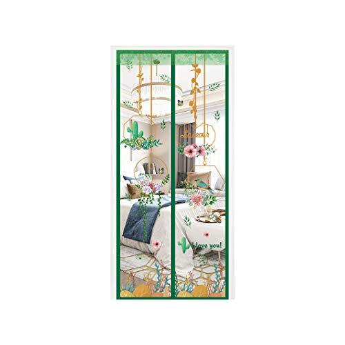 Huasa Dubbele deurhor, dikke bescherming voor de zomer, versleutelingsgordijn, boren, automatische afdichting van boven naar beneden voor balkonschuifwoonkamer, kinderkamer, 85 x 190 cm