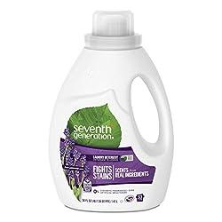Seventh Generation Liquid Laundry Detergent, Fresh Lavender scent, 50 oz, 33 loads (Packaging May Va