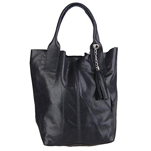 Chicca Borse Handbag Shopper Borsa a Mano da Donna in Vera Pelle Made...