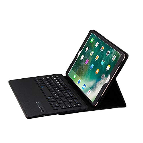 MUY Fashion Keyboard Wireless Bluetooth Rechargeable Keypad Nested Design Stand Case PU Leather for iPad Pro 10.5 inch