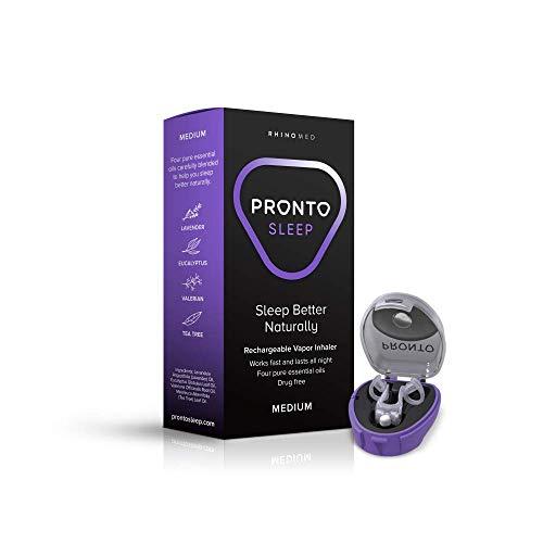 Rhinomed Pronto Sleep Nasal Dilator, Size Medium   Essential Oils Vapor Inhaler   Rechargeable  Drug Free   Improves Airflow   Works Fast and Lasts All Night