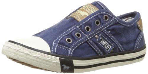 Mustang Unisex Kinder 5803-405 Slip On Sneaker, Blau (841 jeansblau), 34 EU
