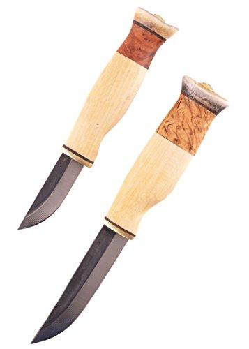 Wood-Jewel 23KVS Doppelmesser Kaksoispuukko sarvihatulla Jagdmesser Outdoormesser Ritter Mittelalter Survival ab 18 Jahren