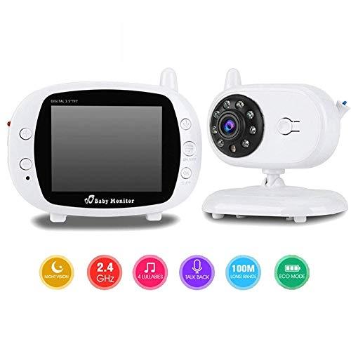 FMOGE Babyphone mit Kamera und Audio WiFi 3,5-Zoll-Funkkamera mit intelligenter Bewegungserkennung mit Mehreren integrierten Musikmikrofonen und Lautsprechern,überwachungskameras
