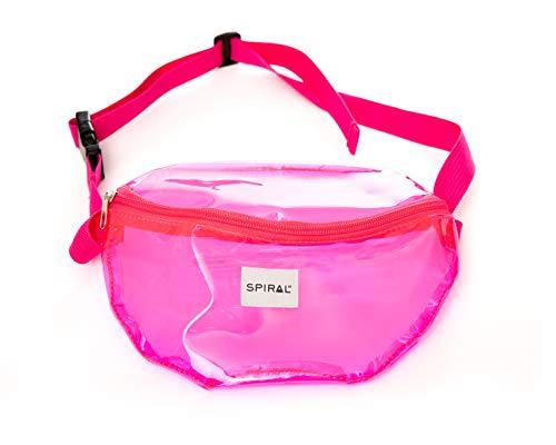 Spiral Transparent - Pink Bum Bag Sac Banane Sport 23 Centimeters 2 Rose (Pink)