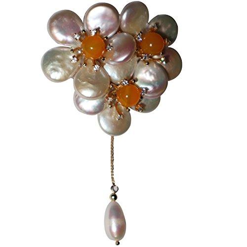 Broche de cristal barroco con diseño de flor de lujo para mujer