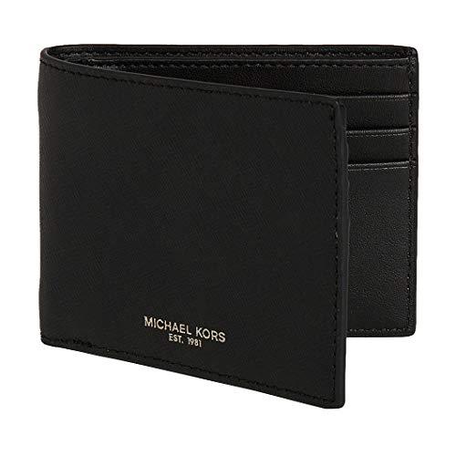 Michael Kors Men's Andy Leather Wallet, Black