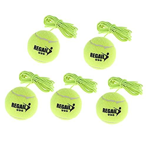 Schneespitze 5 stuks tennisbal met koord, elastische tennisbal, trainingsbal met koord, twistball racket, swingbal…