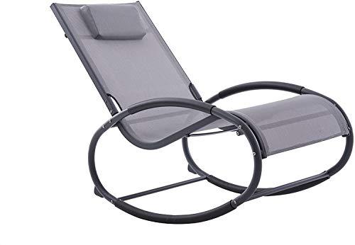 Vivere WAVEROCK1-GB Sessel, Grau auf Mattschwarz