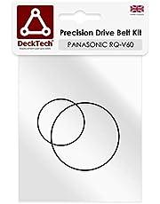 DeckTech - Juego de correas de transmisión compatibles con reproductores de cintas Panasonic (correas de goma de repuesto)