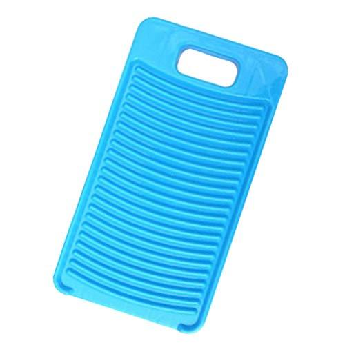 HEMOTON Não- Deslizamento Placa de Lavagem de Lavagem Lavanderia Criativo Tábua de Lavar Tanquinho de Lavar Roupa De Plástico Em Casa para Casa (Azul)