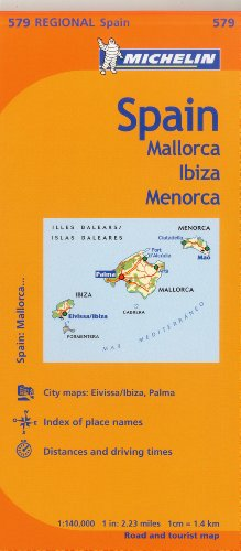 Michelin Spain: Balearic Islands Map 579: (mallorca, Ibiza, Menorca)